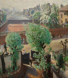 """ Laura Knight (1877-1970), Spring in St John's Wood, London (1933), oil on canvas, 115.6 x 130.2 cm. Via BBC. """