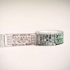 Tissue Tape 20 mm VINTAGE TICKET 16 yards. $5.50, via Etsy.