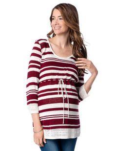 0e4f423217304 Motherhood Maternity 3/4 Sleeve Babydoll Maternity Sweater Maternity  Fashion, Maternity Wear, Maternity