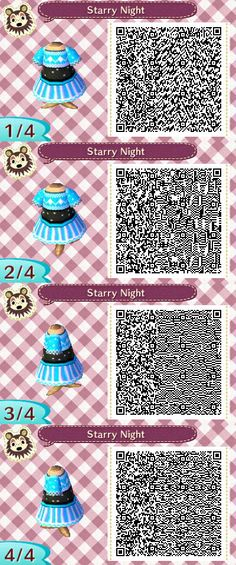 Starry Night - Ethereal Designs http://ethereal-designs.tumblr.com/ Animal Crossing QR Code Designs