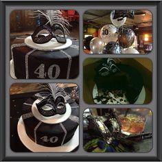 Masquerade Birthday Cake by @Shelia Baked My Cake