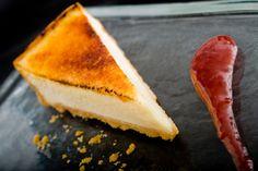 Sicilian Lemon Tart, raspberry coulis...