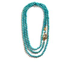 """Cuerlan knotted turquoise with a natural geode accents 60"""""""