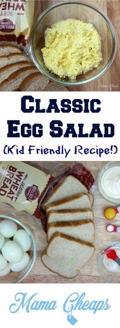 Classic Egg Salad Recipe!  Doesn't get much more simple and OH SO tasty! Find more great recipes on MamaCheaps.com!  #Shoptheclub AD