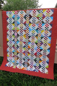 "Flying ""9's""  54 x 68 - Kim Diehl Pattern"