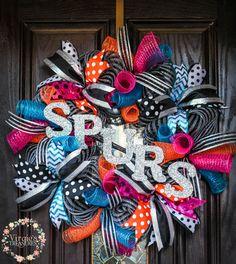 Retro Spurs Wreath- San Antonio Spurs-San Antonio Spurs