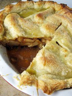 Pear Butterscotch Pie - A Hint of Honey