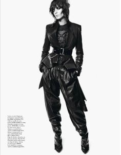 Haider Ackermann leather jacket and pants