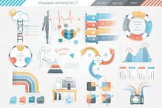Posted by @newkoko2020 Infographic Elements (v7) by Infographic Paradise on @creativemarket