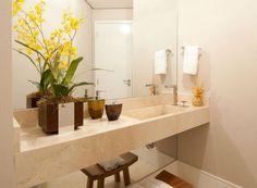 lavabo bancada marmore crema marfil