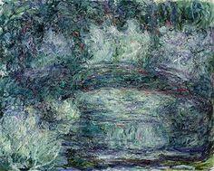 Claude Monet, the japanese bridge, 1918-19