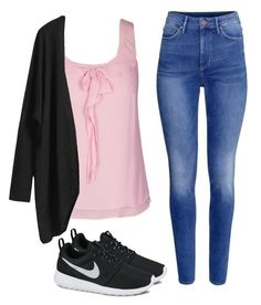 """GIRLY PINK"" by outfit-stagram on Polyvore featuring mode, H&M, NIKE, City Chic en outfit"
