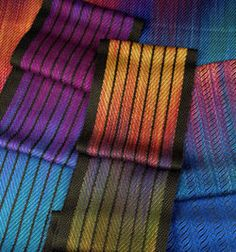 """Promo Image for a class by Jennifer Moore - """"More Doubleweave on Four"""". Love the painted warp!"""