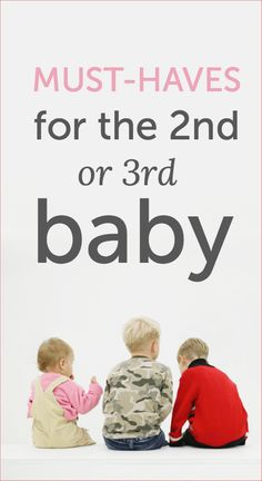 Baby must-haves that will help make life easier when you're dealing with other little ones