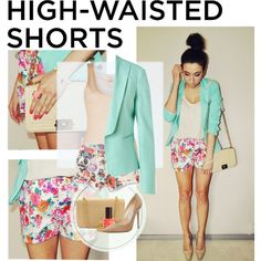 """""""Show Us How You Style High-Waisted Shorts"""" by anggi-ramadhan on Polyvore"""