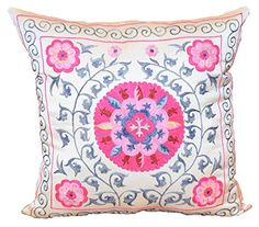 Handmade Suzani Pillow Cover Suzanis & Ikat Textiles http://www.amazon.com/dp/B00LXSW8W6/ref=cm_sw_r_pi_dp_Tkr6tb1F0KQED