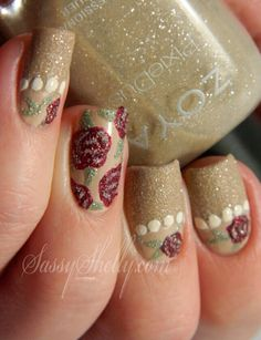 Sassy Shelly | Vintage Nails with the Zoya PixieDusts!
