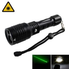 KINFIRE 2-in-1 Green Lase r/ White Light 5mW 532nm Pointer LED Flashlight (1 x 18650 or 3 x AAA ). . Tags: #Lights #Lighting #Flashlights #LED #Flashlights #18650 #Flashlights