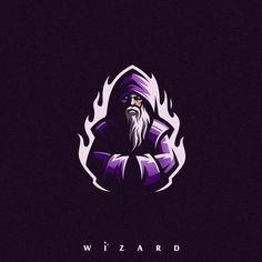 Wizard by Tri Suseno Ari Wibowo on Dribbble - Logos Logo D'art, Logo Branding, Team Logo Design, Mascot Design, Wizards Logo, Cuadros Star Wars, Esports Logo, Professional Logo Design, How To Make Logo