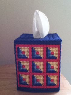 Plastic canvas tissue box cover by were00 on Etsy, $7.00