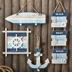 Wooden Beach Signs and Wooden Coastal Signs Discover the best Wooden Beach Signs and Beach Wall Decor you can add to your beach home. We have tons of options when it comes to coastal and nautical wooden signs that you can put on your wall. Beach Wall Decor, Beach House Decor, Anchor Wall Decor, Seashell Crafts, Beach Crafts, Beach Themed Crafts, Beach Signs Wooden, Deco Marine, Nautical Bathrooms