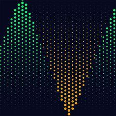 Abstract Triangular Shape Halftone Dots Pattern, Digital Art