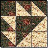 Sawtooth Square block pattern - free