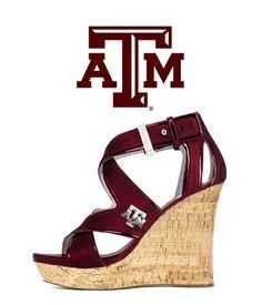 Texas A&M Gig 'Em Heels - Aggie Wedge. I want!
