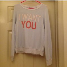 20% Off BundlesWidlfox I Want You Jumper Size small Wildfox I Want You jumper. Light blue color and preowned. There is one small spot on the back in the last pic. Wildfox Sweaters