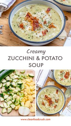 Clean, creamy zucchini and potato soup! Source by rachelmaser Related posts: Zucchini ravioli Creamy coriander-lime dressing for clean food Low-Carb Creamy Stuffed Chicken Peppers Vegetarian Soup, Vegetarian Recipes, Healthy Recipes, Clean Eating Recipes, Clean Eating Snacks, Clean Foods, Clean Lunches, Soup Recipes, Cooking Recipes