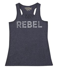 Another great find on #zulily! Dark Heather 'Rebel' Racerback Tank by Country Girl #zulilyfinds
