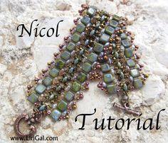 Tutorial Nicol SuperDuo and Tila Beadwork Bracelet PDF by Lirigal