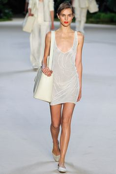 White outfit by Akris Spring 2013 RTW