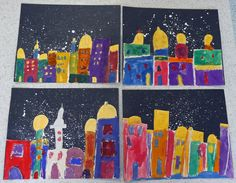 """second or third grade that artist woman: """"Night and Day"""" City Skylines"""