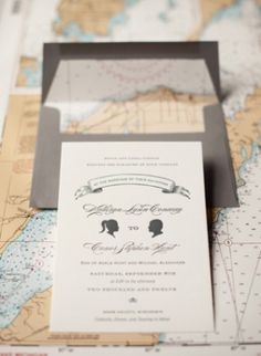Travel-Inspired Letterpress Wedding Invitations by Sarah Drake via Oh So Beautiful Paper (4)