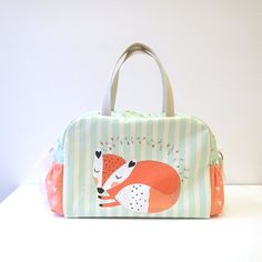 DIAPER BAG Fox/ nappy bag / sleeping fox by ElevenRoostersJunior