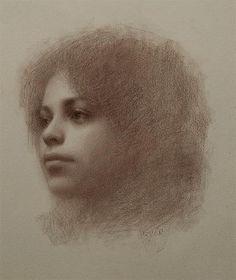 Portrait drawing by Susan Lyon