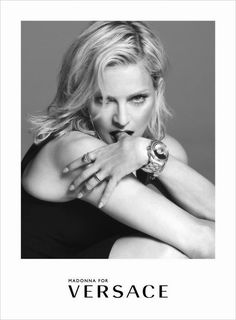 MADONNA IN TRUE ITALIAN STYLE IN THE LATEST VERSACE SPRING/SUMMER 2015 ADVERTISING CAMPAIGN