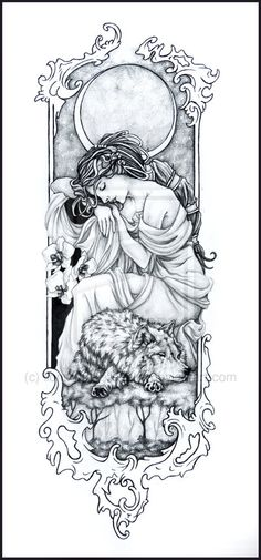 Moon Maiden's Tattoo by *lions-nd-yellocake on deviantART