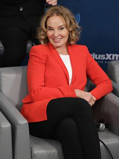 Jessica Lange takes part in SiriusXM's 'Town Hall' with the cast of 'Feud' Town Hall to air on SiriusXM's Entertainment Weekly Radio at the SiriusXM Studios on February 13, 2017 in New York City. - SiriusXM's 'Town Hall' With The Cast Of 'Feud'