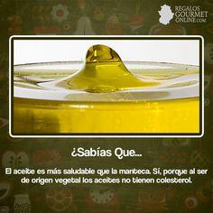 ¿#SabíasQue El aceite es más saludable que la manteca?#Curiosidades#Gastronomía