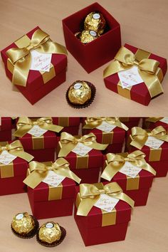Gold Burgundy Wedding Bonbonniere Wedding favor gift box with satin ribbon bow and names Candy boxes for guests Elegant Personalized wedding box make great packaging for your favors and a unique way to thank guests for attending your big day Destination Wedding Welcome Bag, Wedding Welcome Bags, Wedding Favor Bags, Gold And Burgundy Wedding, Wedding Candy Boxes, Gold Wedding Theme, Rainbow Wedding, Wedding Rustic, Wedding Ideas