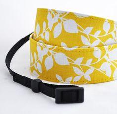 dSLR Camera Strap - Yellow Sunshine - Camera Straps for Nikon, Canon, Pentax, Olympus, Sony etc. $27
