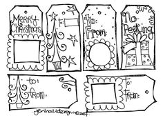 Christmas doodle tags  http://jenhall.typepad.com/my_weblog/2007/12/index.html