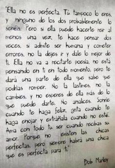 Frases lindas en español. Bob Marley. Love. Entre otros.