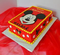 Birthday cake ideas for kids boys mickey mouse Ideas for 2019 - Birthday Cake Flower Ideen Gateau Theme Mickey, Mickey Birthday Cakes, Mickey 1st Birthdays, Mickey Mouse First Birthday, Mickey Mouse Clubhouse Birthday Party, Mickey Cakes, Themed Birthday Cakes, 2nd Birthday, Birthday Ideas