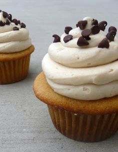 Chef in TrainingCookie Dough Cupcakes with Cookie Dough Buttercream frosting | Chef in Training