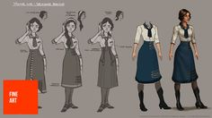 Designing The Dresses For BioShock Infinite's Elizabeth (And The Lutece Twins)