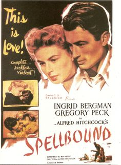 """Spellbound (1945) The score for """"Spellbound"""" is one of the most recognized of all popular film soundtracks. The film features an orchestral score by Miklós Rózsa notable for its pioneering use of the theremin, """"Along with the images evoked by the theremin, the music of """"Spellbound"""" also contains reflective and tender moments of lyrical beauty, calm, and loving in the midst inner turmoil""""…(via filcritics.org)"""