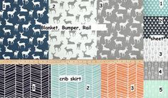 Boys Crib Set Toddler Bed Set deer crib by EKDesignsandCreation